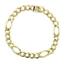 9.8mm 14K Yellow Gold Classic Figaro Link Chain Bracelet - $2,177.01