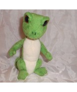 "Ty Beanie Baby Gus Gecko Lizard Green Stuffed Plush Big Red Eyes Reptile 7"" Toy"