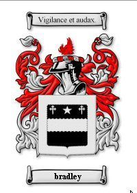 BRADLEY Coat of Arms Surname Print - Genealogy Bonanza