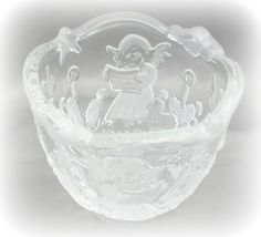 Mikasa Angel Music Crystal Tealight Votive Candle Holder - $13.00