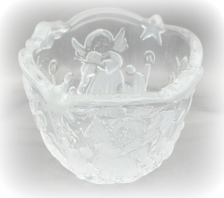 Mikasa Angel Music Crystal Tealight Votive Candle Holder