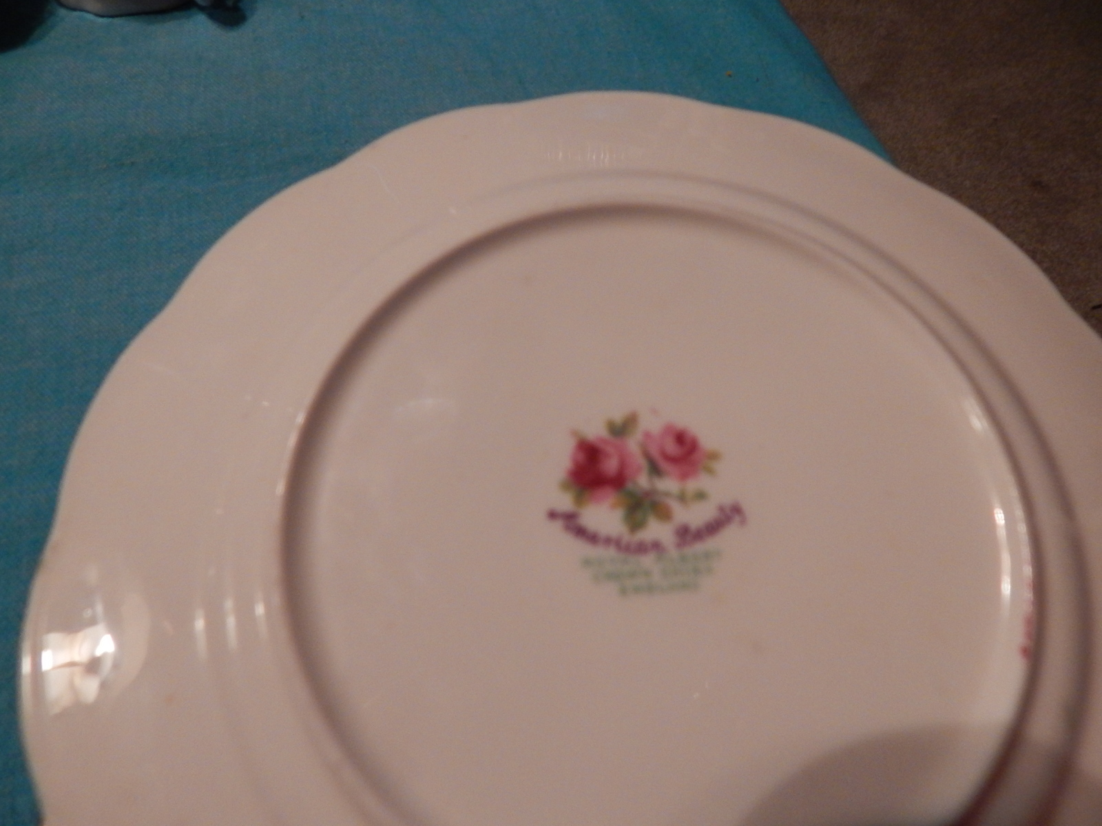 American Beauty Side Plate England Bone China Pink Roses Free Ship Royal Albert