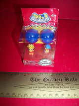 Toy Gift Simpsons Squinkies 2012 Squishy Characters Pair 2 Blue Containers Box - $11.39