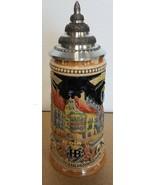 German Beer Stein Munich Hofbruhaus Mnchen HB relief stein 0.5 liter KI ... - $123.81