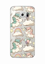 Cloud Unicorn Cartoon Quote Soft Clear Phone Case Cover Samsung Galaxy  7 - $6.76