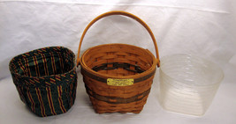 1994 Longaberger Jingle Bell Basket Christmas Collection w/ Liner and Pr... - $15.83