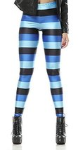 Black and blue stripes leggings size large [Apparel] - $18.99