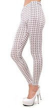 White and Brown Stars Leggings Size Medium [Apparel] - $18.34