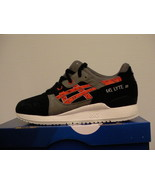 Asics running shoes gel-lyte iii size 8.5 us men black/chili new - $98.95