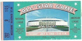 1968 MLB Baseball All Star Game Ticket STub Houston Astrodome - $280.50