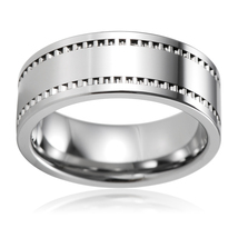 Cinefilm Pattern Tungsten Carbide Wedding Band - 8MM - $45.99