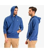 U.S. POLO ASSN Men's Solid 'FRENCH TERRY' Pullocer Hoodie,Summer Navy He... - $39.59