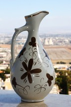 Vintage Hand Painted Pitcher Decanter Carafe Jug Russian Porcelain Marke... - $29.69