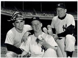 Yogi Berra Whitey Ford Mickey Mantle New York Yankees 16X20 BW Baseball ... - $30.95