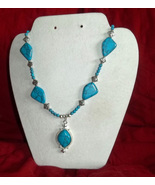Blue Turquoise Southwestern  Statement Necklace - $25.00