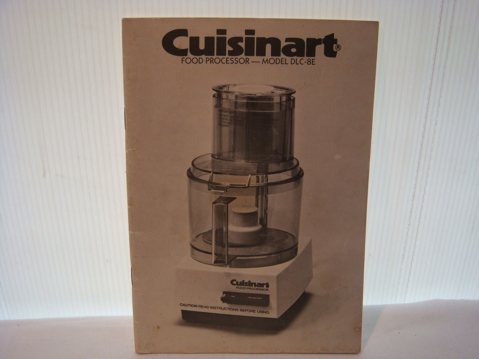 Vintage cuisinart food processor and 50 similar items vintage cuisinart food processor instructionrecipe manual only model dlc 8e forumfinder Image collections