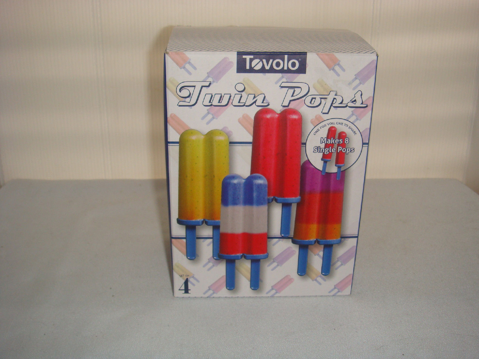 Primary image for TOVOLO TWIN POPSICLE FREEZER SET MAKES 8 POPS or 4 TWINS one for you one for me!