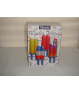 TOVOLO TWIN POPSICLE FREEZER SET MAKES 8 POPS or 4 TWINS one for you one for me! - $8.94