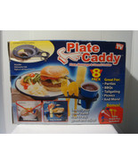 PLATE CADDY - PLATE, BEVERAGE & UTENSIL HOLDER - AS SEEN ON TV - SET OF 8 - $14.95