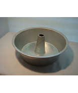 """VINTAGE NO NAME ANGEL FOOD CAKE PAN """"THE FINEST ALUMINUM SOLID - $8.94"""