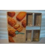 WILTON MINI LOAF PAN X 6 1991 CAKE PAN ALUMINUM # 2105 - 9791   - $17.95