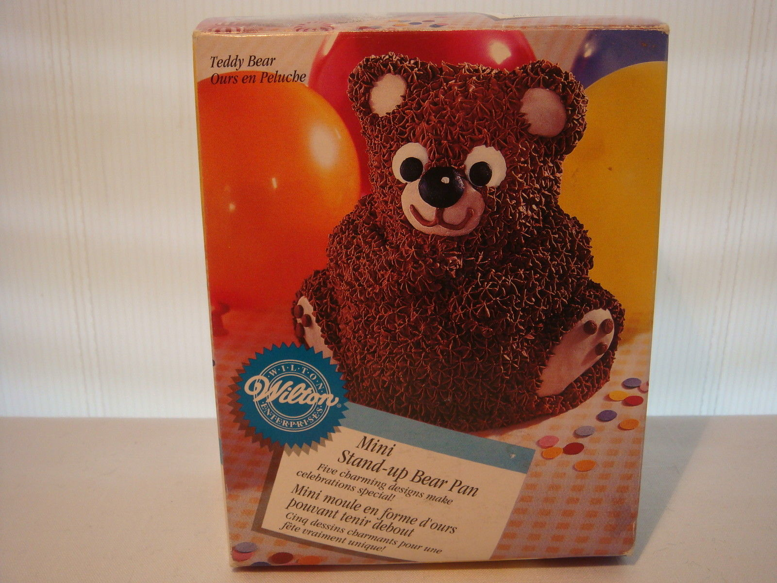 Primary image for WILTON MINI STAND UP BEAR 1997 CAKE PAN ALUMINUM # 2105 - 489