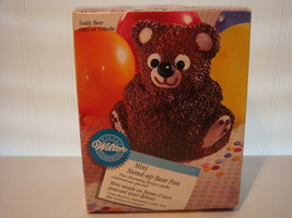 WILTON MINI STAND UP BEAR 1997 CAKE PAN ALUMINUM # 2105 - 489   - $16.95