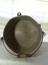 VINTAGE MILKING PAIL - KITCHEN PAN - ALUMINUM - VERY USED & VERY OLD image 10