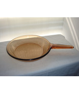 "PYREX CORNING VISION COOKWARE  10"" FRY PAN   AMBER IN COLOR  MADE IN USA - $21.95"