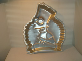 WILTON BART SIMPSON 1990 CAKE PAN ALUMINUM # 2105 - 9002  20TH CENTURY FOX - $21.95