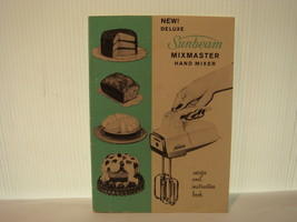 SUNBEAM MIXMASTER HAND MIXER RECIPE & INSTRUCTI... - $12.95