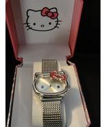 Hello Kitty Silver Tone Mesh Wristwatch - New i... - $38.00