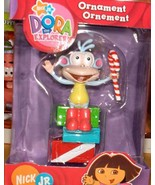 DORA EXPLORER BOOTS MONKEY CHRISTMAS ORNAMENT MINT IN BOX. NICK JR. - $14.98