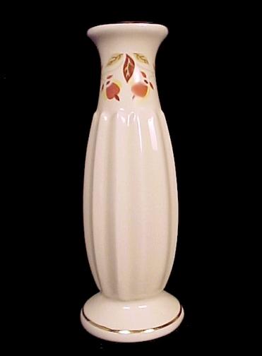 75437a autumn leaf fluted bud vase hall china jewel t tea 2003 nalcc limited edition