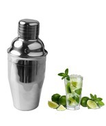 Cocktail Shaker Stainless Steel Bar Cocktail Mixer Drink Bartender Wine ... - £5.75 GBP - £9.49 GBP