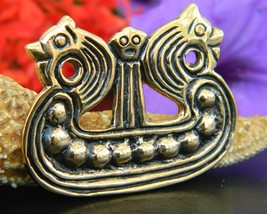 Viking Dragon Ship Brooch Pin Kopi Smykker Museum Denmark Bronze - $59.95