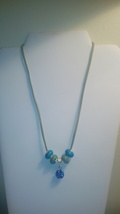 Handmade Green & Blue Multi Bead Necklace - $6.99