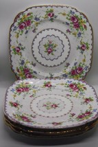 "Lot of 5 Royal Albert Petit Point Sandwich Plates Square 6"" and 1Saucer 5.5"" - $43.47"
