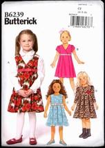 Unc Sz 4 5 6 Girls Raised Waist Dress Butterick 6239 Sewing Pattern Ches... - $6.99