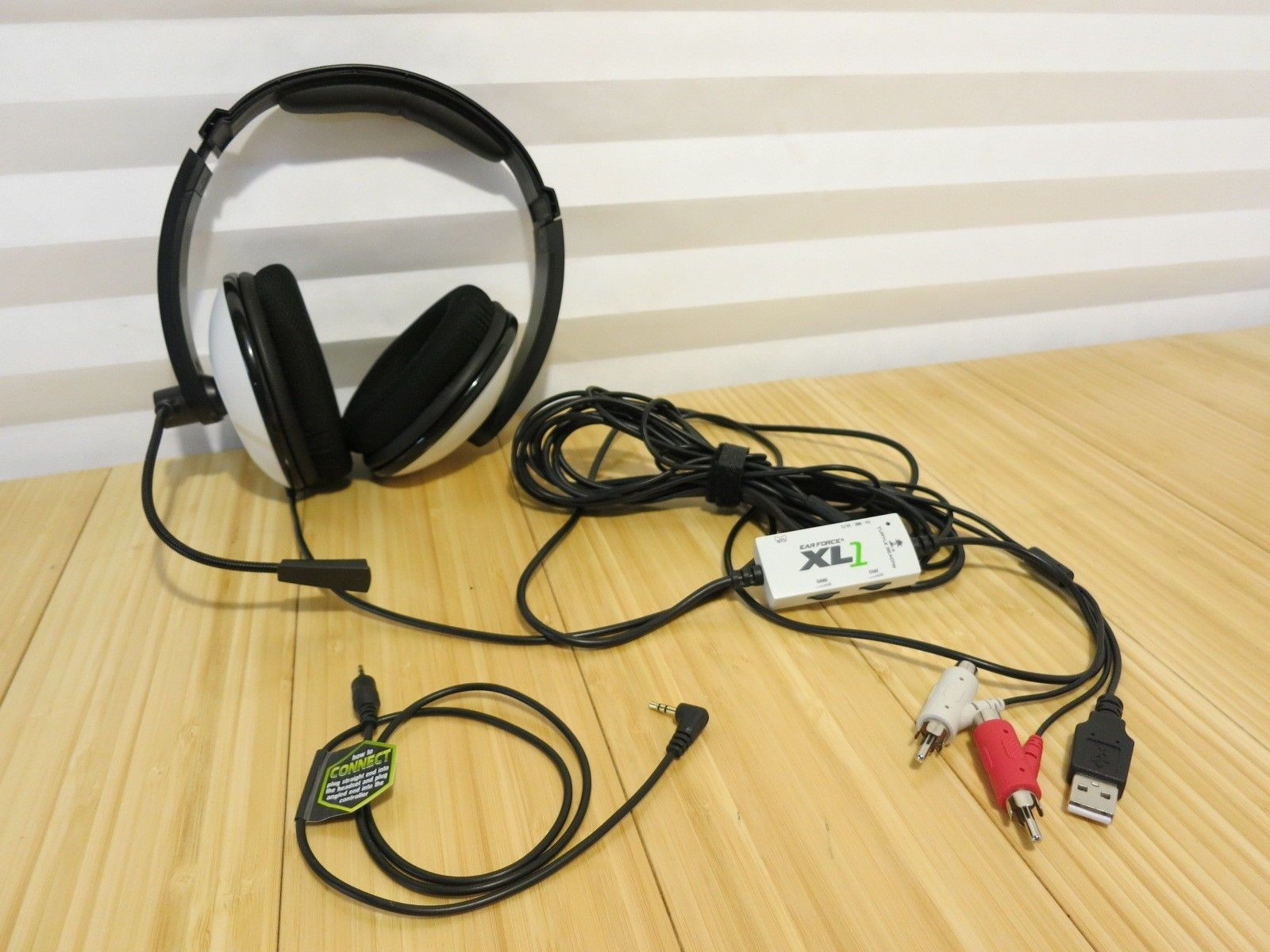 c1fd8baf85c 57. 57. Previous. Turtle Beach Ear Force XL1 Black/White Headband Headset  for Microsoft Xbox 360