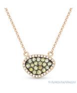 0.37ct Fancy-Color Diamond Pave Pendant & Rolo Necklace in 14k Rose & Bl... - $595.99
