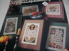 Scriptures of Thanksgiving Cross Stitch Designs - $5.00