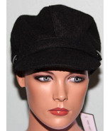 NWT Nine West Black Wool Modboy Newsboy Ladies Hat - $16.82