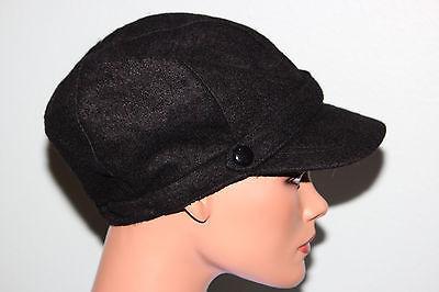 NWT Nine West Black Wool Modboy Newsboy Ladies Hat