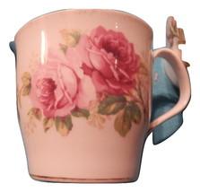 Lot of 4 American Beauty Coffee Mugs Royal Albert china England Free Shi... - $75.99
