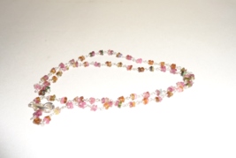 Handmade Genuine Tourmaline Gemstone Beaded Necklace - $10.99