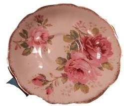 Old English Rose Saucer England Bone China Free shipping  - $21.99
