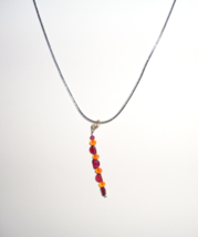 Handmade Genuine Garnet Gemstone & Orange Cryst... - $9.99