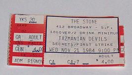 RARE TAZMANIAN DEVILS W/ Secrets/First Strike Concert Ticket 11-21-1984 ... - $8.28
