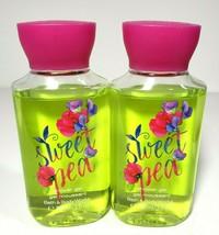 2 Bath & Body Works SWEET PEA Travel Size Shower Gel Wash 3oz New - $14.25